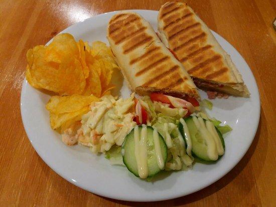 Peterhead, UK: Panini & Salad.