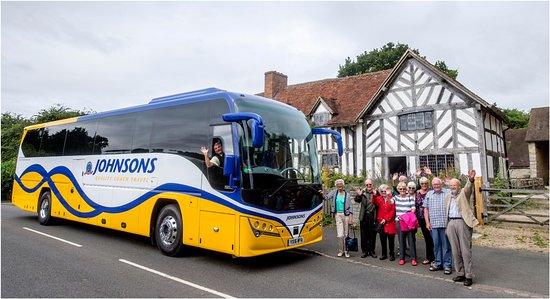 Henley in Arden, UK: Happy passengers