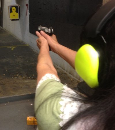 Bellevue, NE: Me at take aim gun range