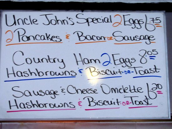 Smiths Grove, KY: Miss Betty's Diner - Breakfast specials... by Carl H. =)~