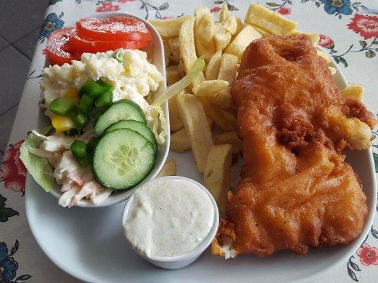Swinford, Ireland: Chicken & fries