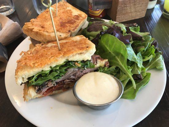 Olathe, KS: Roast beef and Havarti sandwich