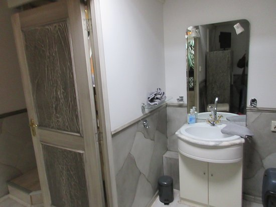 Pension Onassis: double room with roof window - sink