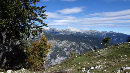 Bohinjsko Jezero, Slovenien: View on Triglav mountain