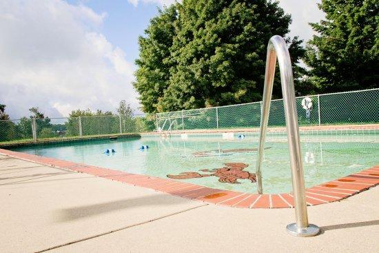 Onekama, MI: Freshly Painted Pool