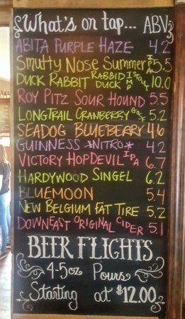 Quakertown, PA: Ever changing beer menu