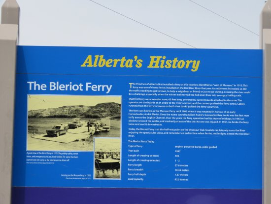Bleriot Ferry: Historic information