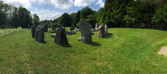 Walpole, NH: Stone circle, set for the Winter Solstice.