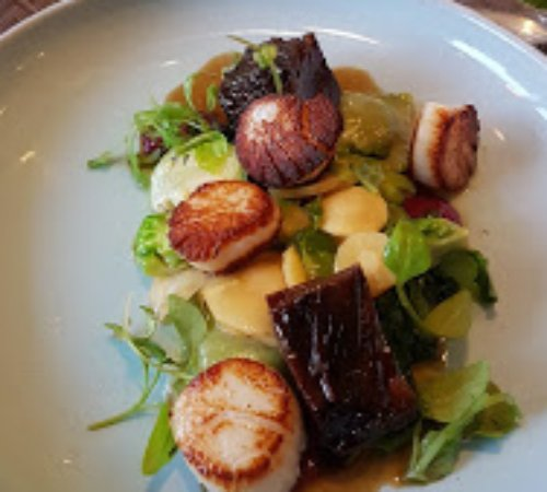 Noble Bistro Oakville: Scallop and Short Rib from Our Fall Dinner Menu