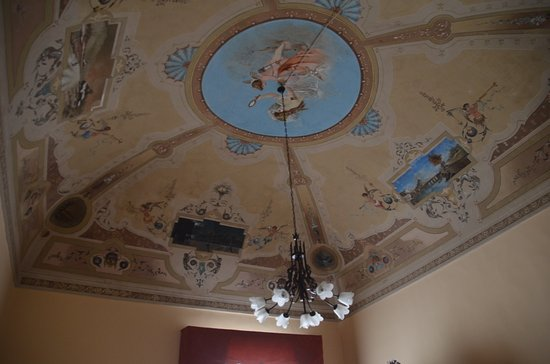 Palazzo Il Cavaliere: Ceiling in room 5