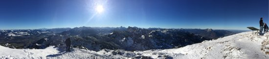 Austrian Alps, Avusturya: View from the top of the mountain at Untersberg
