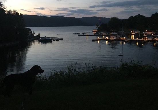 Vergennes, VT: Beautiful night over the harbor