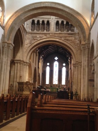 Wimborne Minster: inside