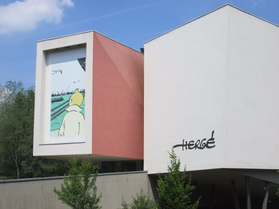 Musée Hergé : The entrance....exciting!!!
