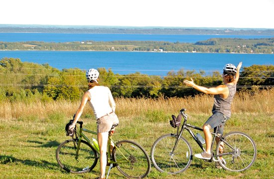 Grand Traverse Bike Tours: Views from the Leelanau Wine Trail Tour!