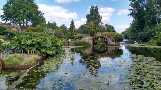 Warwick, UK: View upstream from the weir