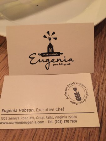 Great Falls, VA: Best Greek Chef in DC, just a lovely lady!  And boy can she cook!