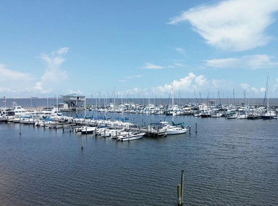 Steve S Marina Restaurant Long Beach Harbor Gulf Of Mexico View From The 2nd Floor