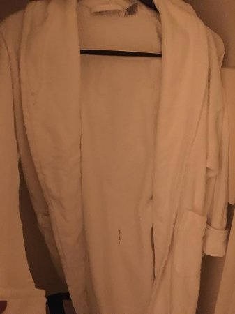 JW Marriott Desert Springs Resort & Spa: Soiled robes gross. The staff the following day thought this was acceptable.