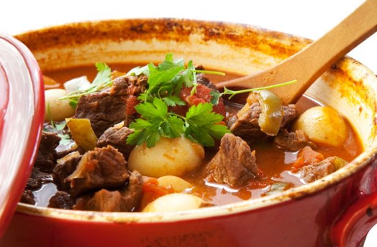 Builth Wells, UK: Welsh & South African stew