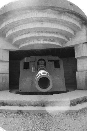 Longues-sur-Mer, Fransa: Canon de 150mm en casemate