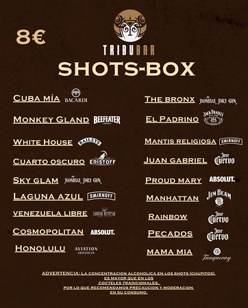 Try our Shots-Box. (-10 Shots served in the mixer, so you can drink ...