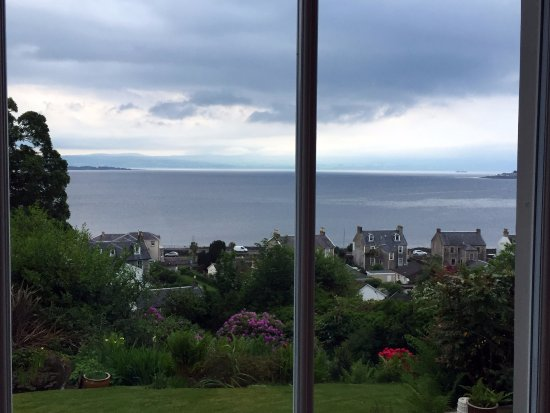 Munro's B & B: View from the family room bay window. A bit overcast, but beautiful.