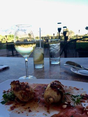 Santa Ana Pueblo, NM: crab stuffed calamari, it was average