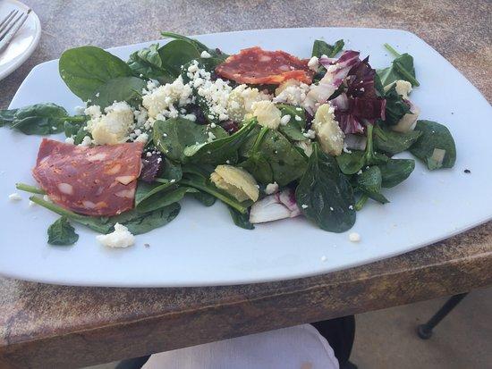 Santa Ana Pueblo, NM: Artichoke salad-Didn't get the need salami ??