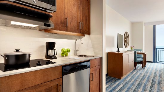 Hyatt House Virginia Beach Oceanfront Studio Kitchen Suite One King Bed Plus