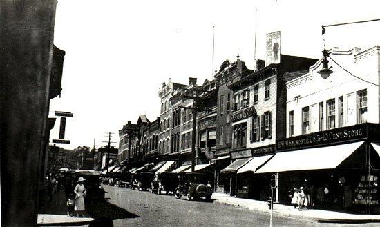 Nyack's Main Street... before