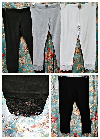 Jefferson, Τέξας: Lace trim cotton leggings $16