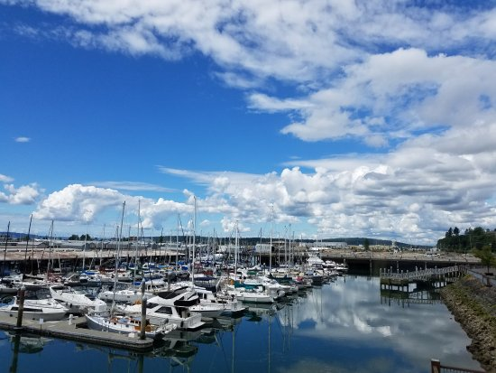 Everett, WA: View from Marina side room