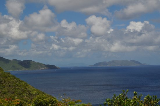 Guana Island: View of Tortola and Jost Van Dyke