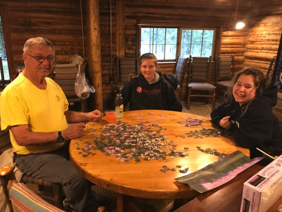 Colter Bay Village: There is a community cabin with games and wifi.