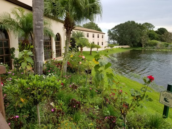 Sebring, FL: Lakeside next to pool area and backside of resort
