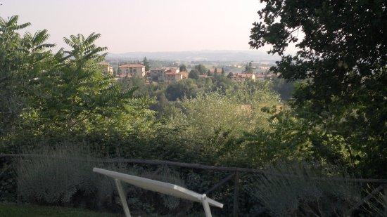 San Casciano dei Bagni, Italië: Vista della piscina