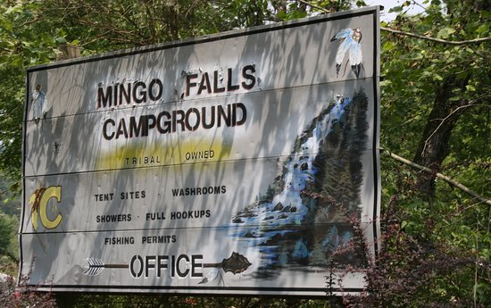 Mingo Falls: You can park here and take the steps to the short trail.