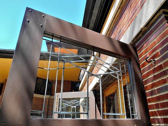 robie house art glass in the garage doors rh tripadvisor co kr
