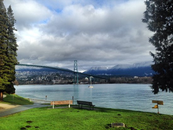 North Vancouver, Kanada: View from Stanley Park on our Vancouver City Tour