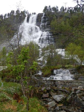 Voss Municipality, Norway: Tvindefossen waterfalls