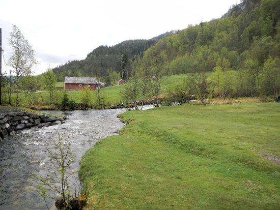 Voss Municipality, Norway: Bucolic area around Tvindefossen