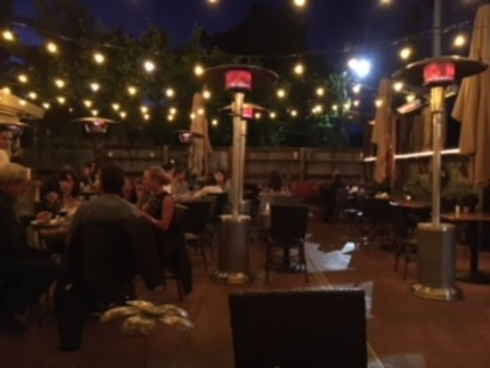 the girl & the fig : Courtyard Dining Night