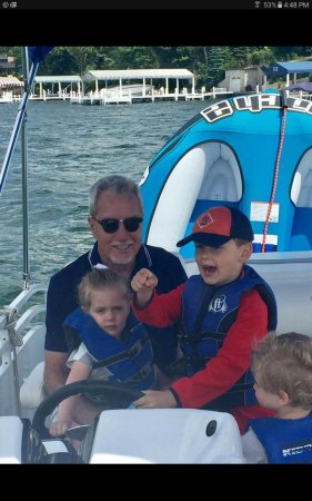 Fontana, WI: My family, especially the grandkids, loved the pontoon boat on beautiful Lake Geneva.