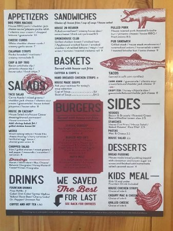 Ainsworth, NE: Newly redesigned menu