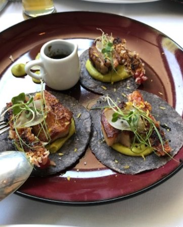 Sagrantino: Pork belly tacos