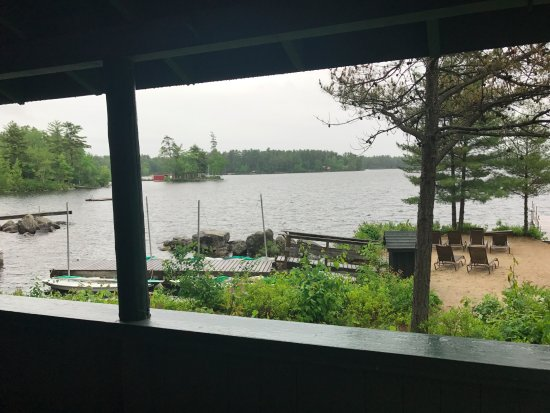 Migis Lodge: View from Stones Throw deck