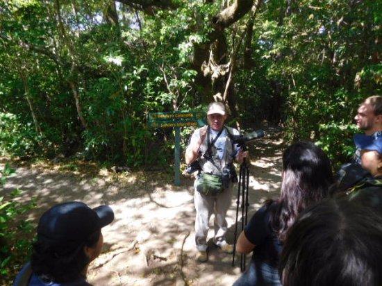 Children's Eternal Rain Forest : Nuestro guia nos enseño mucho acerca de las aves, insectos y mamiferos.
