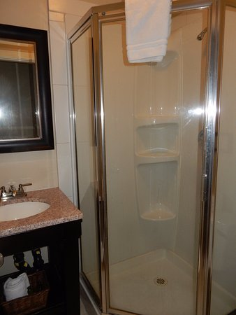 Mayne Island Resort: Tiny tiny bathroom. Not much room to put your own toiletries either.