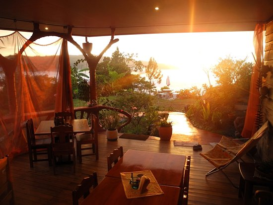 San Vito, Kostaryka: Sunset Casa Botania Romantic Deck